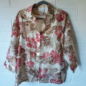 Alfred Dunner Blouse with attached tank top